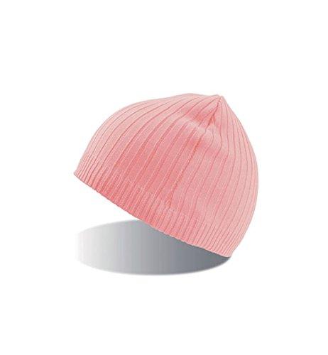 Pink Beanie punto y de Invierno Winter Gorro Mujer de Hombre 7wFqzaZx