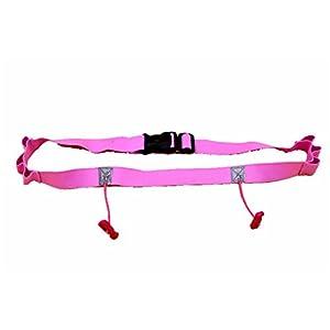 eCiclico Marathon Triathlon Race Number Belt With Number Holder (pink)