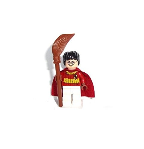 Lego Harry Potter 2010 Mini Figure - Harry Potter Quidditch Outfit with Broomstick