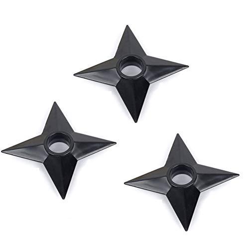 (Jebester Set of 3 Pcs Ninja Weapons Naruto Shuriken Throwing Plastic Toy)