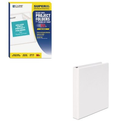 (KITCLI62138UNV20962 - Value Kit - C-line Deluxe Project Folders (CLI62138) and Universal Round Ring Economy Vinyl View Binder (UNV20962))