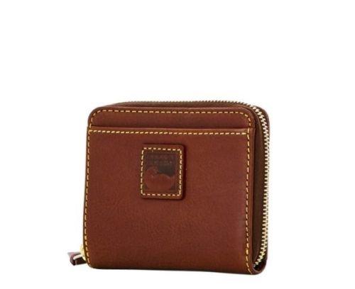 Dooney and Bourke Florentine sm zip bifold wallet Chestnut by Dooney & Bourke