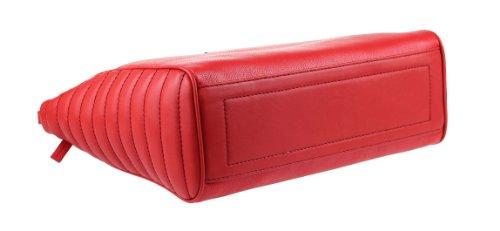 Asas 35x28x12 Bolso Para De Cm Versace bxhxt Rojo Jeans Mujer fqwYvZt