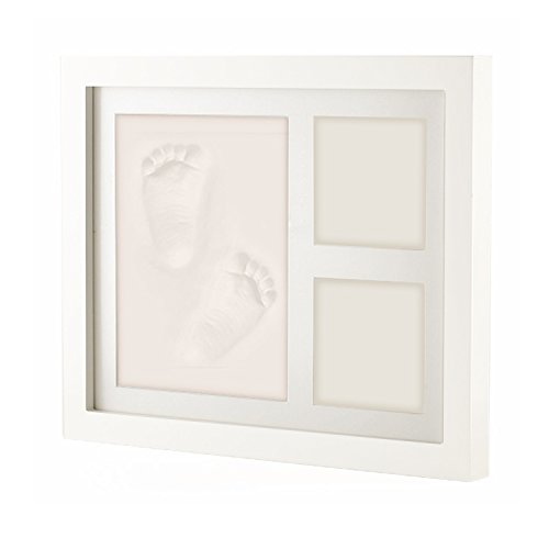 creative-idea-exquisite-baby-hand-footprint-diy-picture-frame-kit-w-solid-white-wood-frame-non-toxic