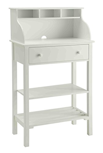Convenience Concepts Office and Kitchen Storage Desk, White