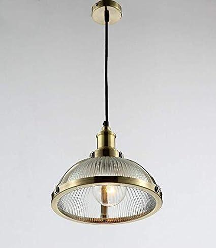 Maxmer Lámpara Colgante Luz Vintage Lámpara Industrial Lámpara de Techo Retro Casquillo E27, Color Bronce