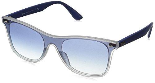 Ray-Ban RB4440N Blaze Wayfarer Sunglasses, Matte Transparent/Red Gradient Mirror, 41 ()