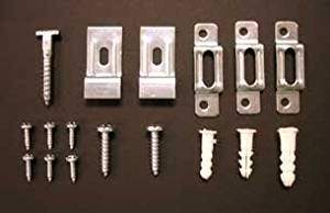 100 Complete Art Picture Frame SECURITY HANGING Kits for WOOD FRAMES with FREE Wrenches by Security Hangers