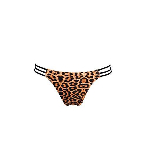 Mi Mini Itsy Bikini Tanga multitiras leopardo y negro (braga) estampado
