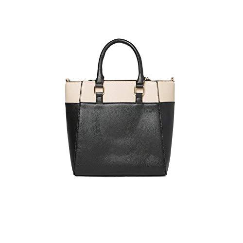 70b1b8121bcf3 Ex Dorothy Perkins Black Beige Mini Leather Shoulder Handbag Shopper Tote  Bag