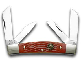HEN & ROOSTER AND Red Pickbone Congress Pocket Knife (Red Pickbone)