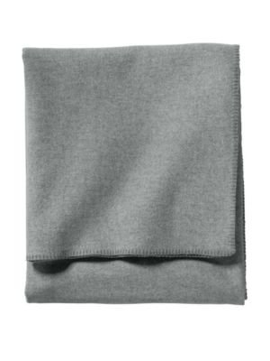 Pendleton Queen Size Blanket - Pendleton Eco-Wise Easy Care Blanket, Queen, Grey Heather