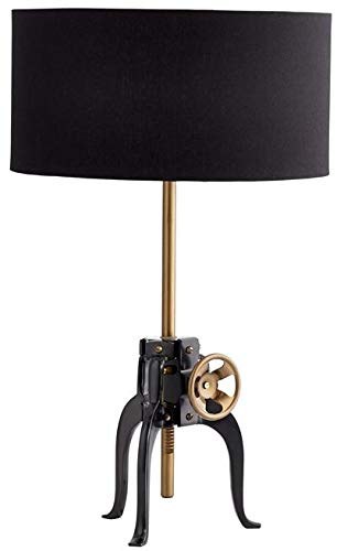 Cyan Design Table Lamp Astra 1-Light Bronze Black Shade Beige Gold Silve (Light Table Astra)