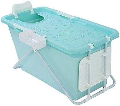 ポータブル浴槽風呂折りたたみ浴槽風呂バレルの大人は家の全身バレルを肥厚しました (Color : Blue)