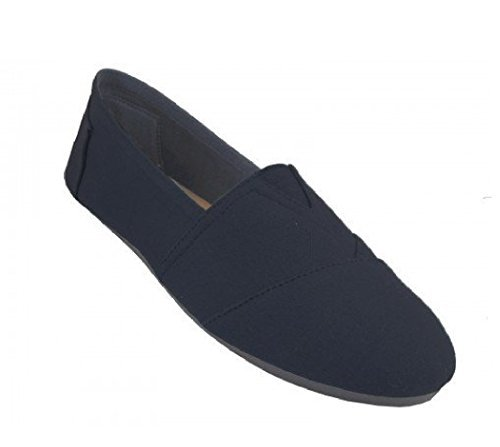 Easy USA Mens S308M Black 360m Canvas Slip on - (Canvas Slippers)