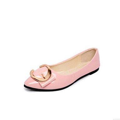 5 Donna UK6 5 Rosa Nero Informale Bianco Tacchi Primavera US8 Flat RTRY Pu Comfort Comfort Arrossendo Estate CN40 EU39 qT6zdRa