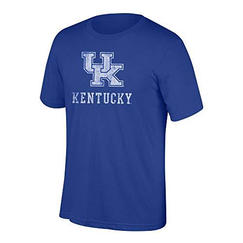 Kentucky Wildcats Tee - Top of the World NCAA Men's Kentucky Wildcats Heritage Tri-blend Tee Vintage Royal XX Large