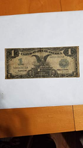 - 1899 $1 BLACK EAGLE SILVER CERTIFICATE -AFFORDABLE SPANISH-AMERICAN WAR NOTE-VERN'S CARD & COIN $1 G