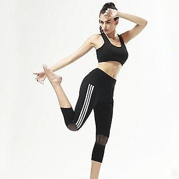 Wuyulunbi@ Pantalones de yoga 3/4 Mallas / Pantalones ...