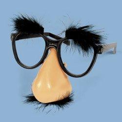 [Plastic Fuzzy Nose & Glasses Mustache Accessory] (Fuzzy Nose)