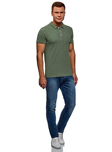 En Tissu Ultra Vert Homme Polo Piqué 6600n Oodji qzTOtw