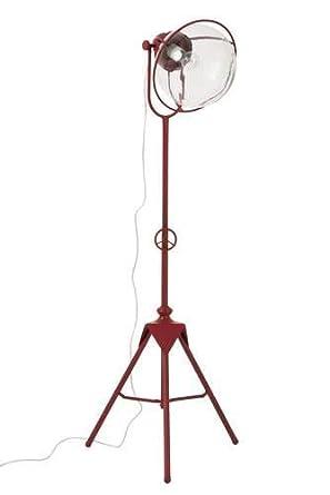 Lámpara proyector con trípode de metal rojo: Amazon.es: Iluminación