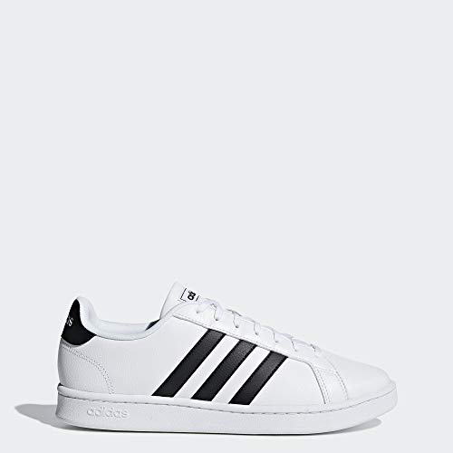 adidas Men's Grand Court, Black/White, 10 M US (Adidas Shoes Sneakers)