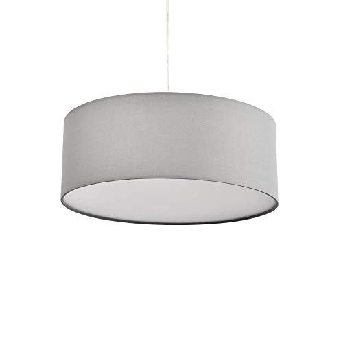 Pendant Light, SPAKRSOR Ceiling Hanging Lamp, Modern Fabric Light Shade, Large White Drum Lampshade, Round, for Bedroom Dining Room Living Room, 3 Bulb, E26