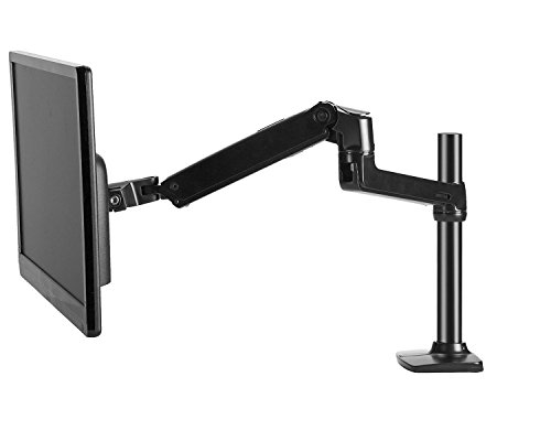 Sliding Brackets Lcd Stand (Halter LCD Adjustable Monitor Stand, Single Arm, Desk Clamp/Grommet Base, Holds up to 32