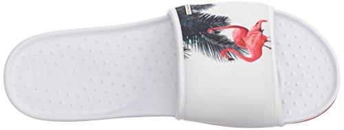 Slide Sauldi Baker rojo Flamingo Ted Flamenco blanco 2 Men's 2 xtOxwX1q