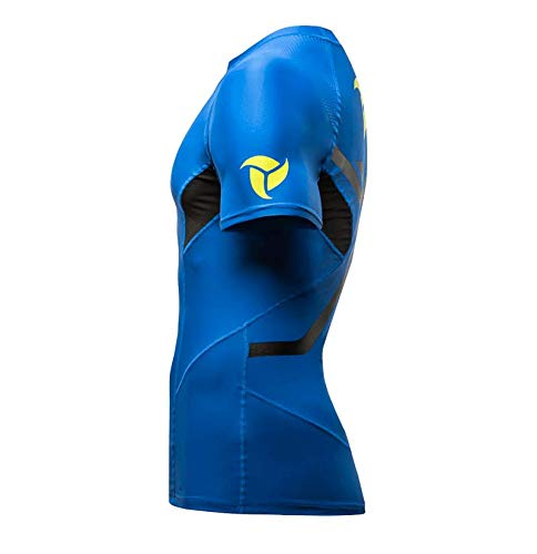 Protezione Rashguard Mare Maglia Blue Surf Canoa Kayak Manica Con Lb9 Corta Perfetta Per Upv 4Xqw76