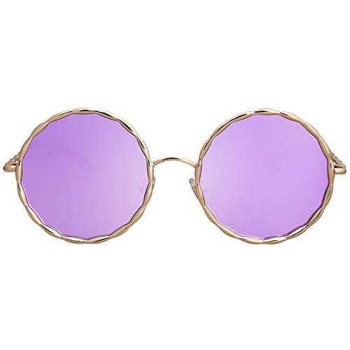 C10 De Sojos Soleil Lunettes Femme Or Pour Rond Sj1090 Métal Lentille Cadre violet T8H85qxpw