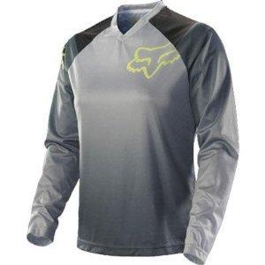 Fox Racing Women's Switch Kenis Jersey - Large/Grey/Yellow