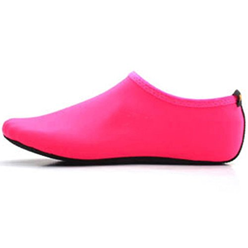 Aquaschuhe Wassersport Schuhe Rosa Yoga Schwimmschuhe Schuhe Barfuß Damen Herren Weich Leicht Rutschfest Strandschuhe Surfschuhe Unisex Badeschuhe für Wasserschuhe Cokar B6SnYS