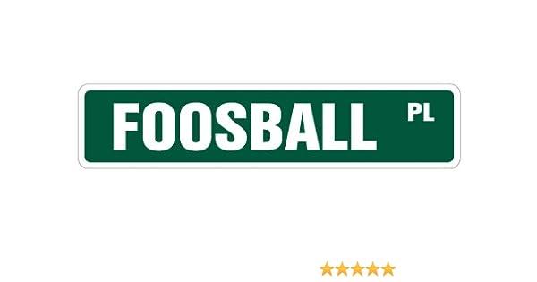 Futbolín calle signo sala de juegos Foos bola piezas bolas novedad calle signo: Amazon.es: Hogar