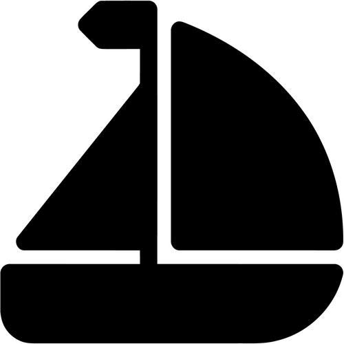 Mandy Graphics Sailboat Sailing Sailor Nautical Vinyl Die Cut Decal Sticker for Car Truck Motorcycle Windows Bumper Wall Home Office Decor Size- [8 inch/20 cm] Tall and Color- Gloss White