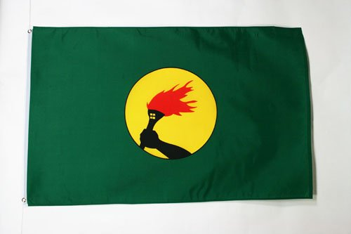 AZ FLAG Bandera de Zaire 150x90cm Bandera CONGOLE/ÑA 90 x 150 cm