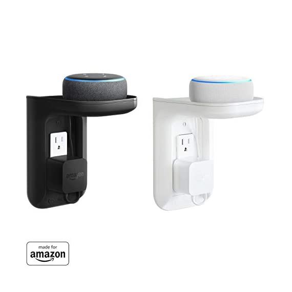 """Made for Amazon"" ECHOGEAR Outlet Shelf for Echo Dot (3rd Gen & Kids edition), Echo Plus (2nd Gen), and all previous Echo generations, White (EGOS1-W1) - 312k2360OtL - ""Made for Amazon"" ECHOGEAR Outlet Shelf for Echo Dot (3rd Gen & Kids edition), Echo Plus (2nd Gen), and all previous Echo generations, White (EGOS1-W1)"