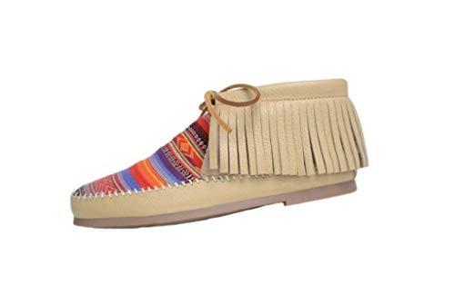 Minnetonka Women's Tierra Deerskin Boot Champange 6 M