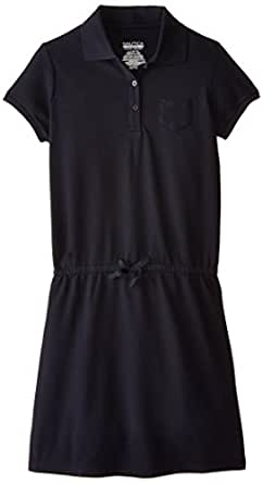 Nautica Big Girls' Uniform  Pique Polo Dress,Su Navy,Large (12/14)