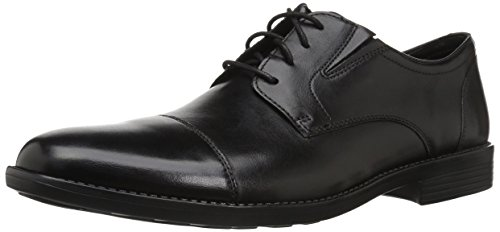 Bostonian Men's Birkett Cap Oxford, Black Leather, 090 W - Bostonian Mens Shoes Dress