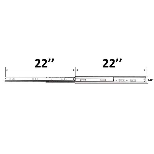 Cuaulans 10 Pair 22'' Full Extension Side Mount Ball Bearing Sliding Drawer Slides, Mounting Screws Included, Available in 10'', 12'', 14'', 16'', 18'', 20'' and 22'' Lengths by Cuaulans (Image #6)