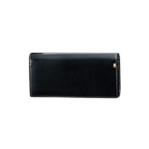 Milagro ミラグロ タンポナートレザー 二つ折り 長財布 ロングウォレット イタリア製ヌメ革 ネイビー CA-S-526-NV B074MP6J5T