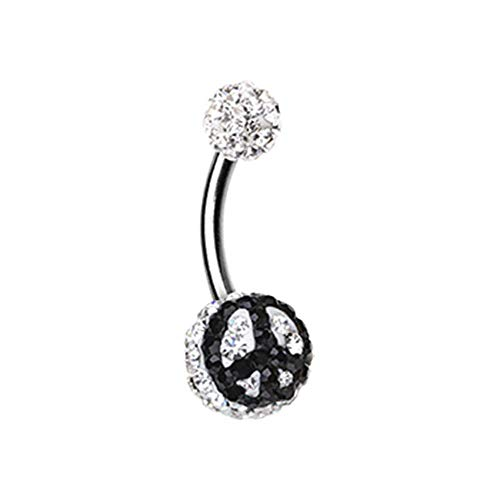 Peace Sign Multi-Sprinkle Dot WildKlass Belly Button Ring