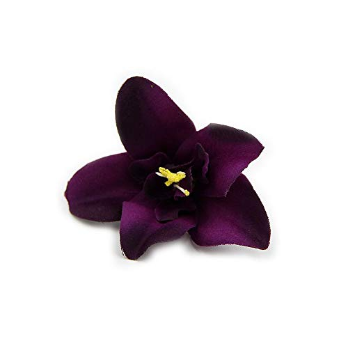 - Flower Head Silk Orchid Artificial Fake for Crafts Wedding Decoration DIY Party Festival Home Decor Wreath Gift Scrapbooking Fake Flowers 30pcs/lot 7cm (Purple)