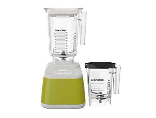 Blendtec Designer 625 Blender with Wildside+ Jar (96 oz) and Mini Wildside+ Jar (46 oz) BUNDLE, Commercial-Grade Power, 4 Pre-Programmed Cycles, 6-Speeds, Sleek and Slim, Chartreuse