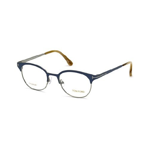 TOM FORD Eyeglasses FT5382 090 Shiny Blue 50MM