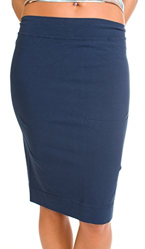 Tail Blue Skirt - Hard Tail skinny knee pencil skirt - 12 colors available (small, navy)