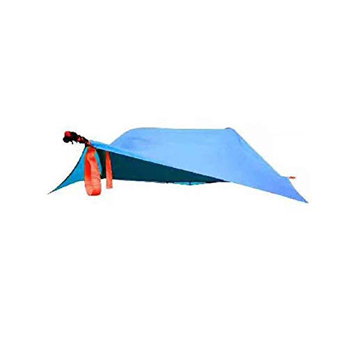 Zgen Single Person Hiking Traveling Tree Tent Outdoor Camping Tree Hammock Bed Ultralight Multi-Functional Three Trees Hanging Bed,RoyalBlue