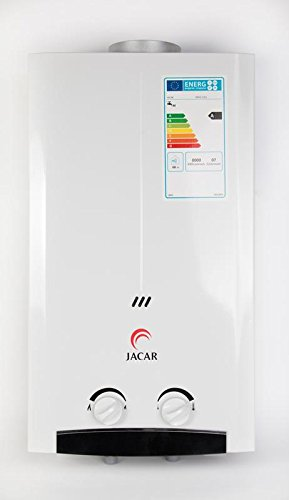 Jacar - Calentador a gas de 11 litros - Propano / Butano - Eficiencia energética A